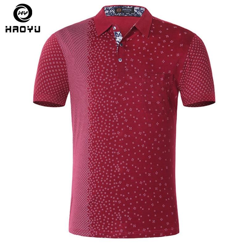 Új 2018 márka POLO póló férfi pamut divat rövid ujjú alkalmi ingek magas minőségű Argyle nyomtatott vékony férfiak Polo Homme
