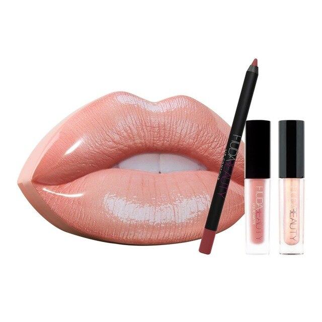 Make Up Huda Beauty Lipstick Nuda Beauty Eyeshadow Shimmer Palette