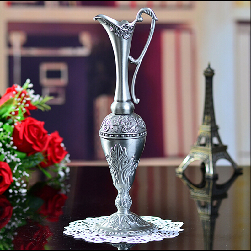 Selling Pewter Plated Metal Flower Vase