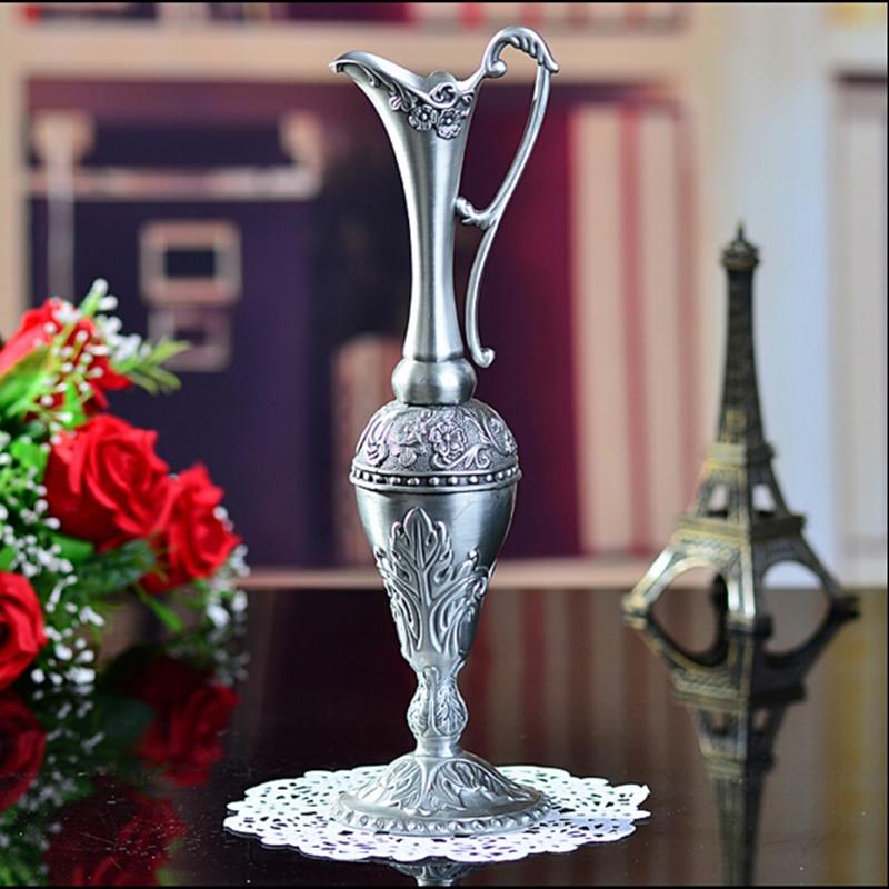 Selling Pewter Plated Metal Flower Vase
