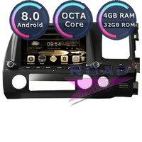 Roadlover Android 8,0 штатную DVD плеер для Honda Civic 2006 2007 2008 2009 2010 2011 RHD стерео gps навигации magnitol