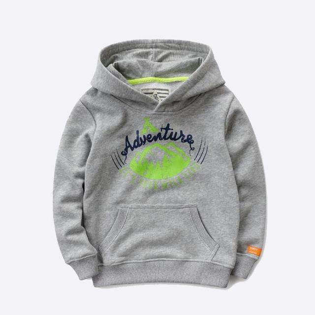 Novo 2016 children clothing esporte meninos meninas hoodies roupas 100% algodão cor sólida com capuz camisolas bebés meninos hoodies outwear