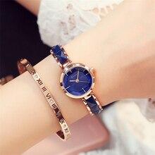 Kimio 2017 reloj de lujo de marca relojes mujeres de moda de imitación de cerámica de oro de cuarzo reloj de pulsera relojes de las mujeres para las mujeres
