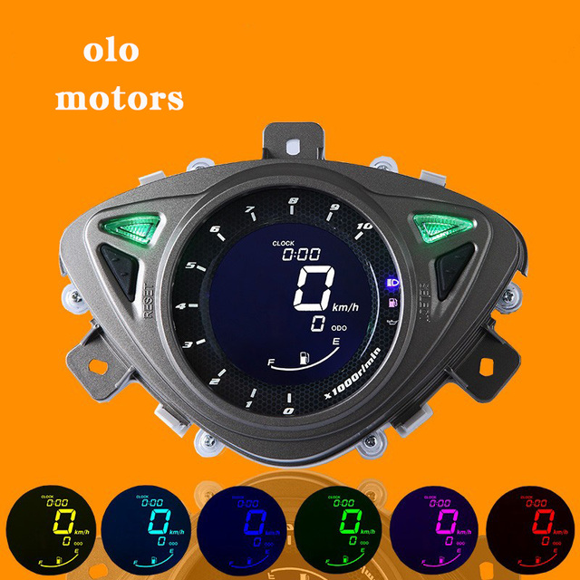 2016 Hot Sell LCD Speedometer Odometer Scooter Motorcycle For Yamaha 100RSZ7 universal speedometer motorcycle 7 Color Backlight