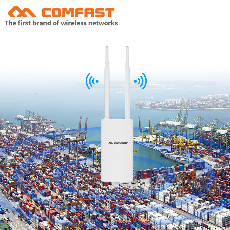 500 mW 1200 M Gigabit Poe Wireless Outdoor AP 802.11AC Dual Band Wifi Extender Router ponte 10dBi Antenna WiFi Copertura stazione di Base