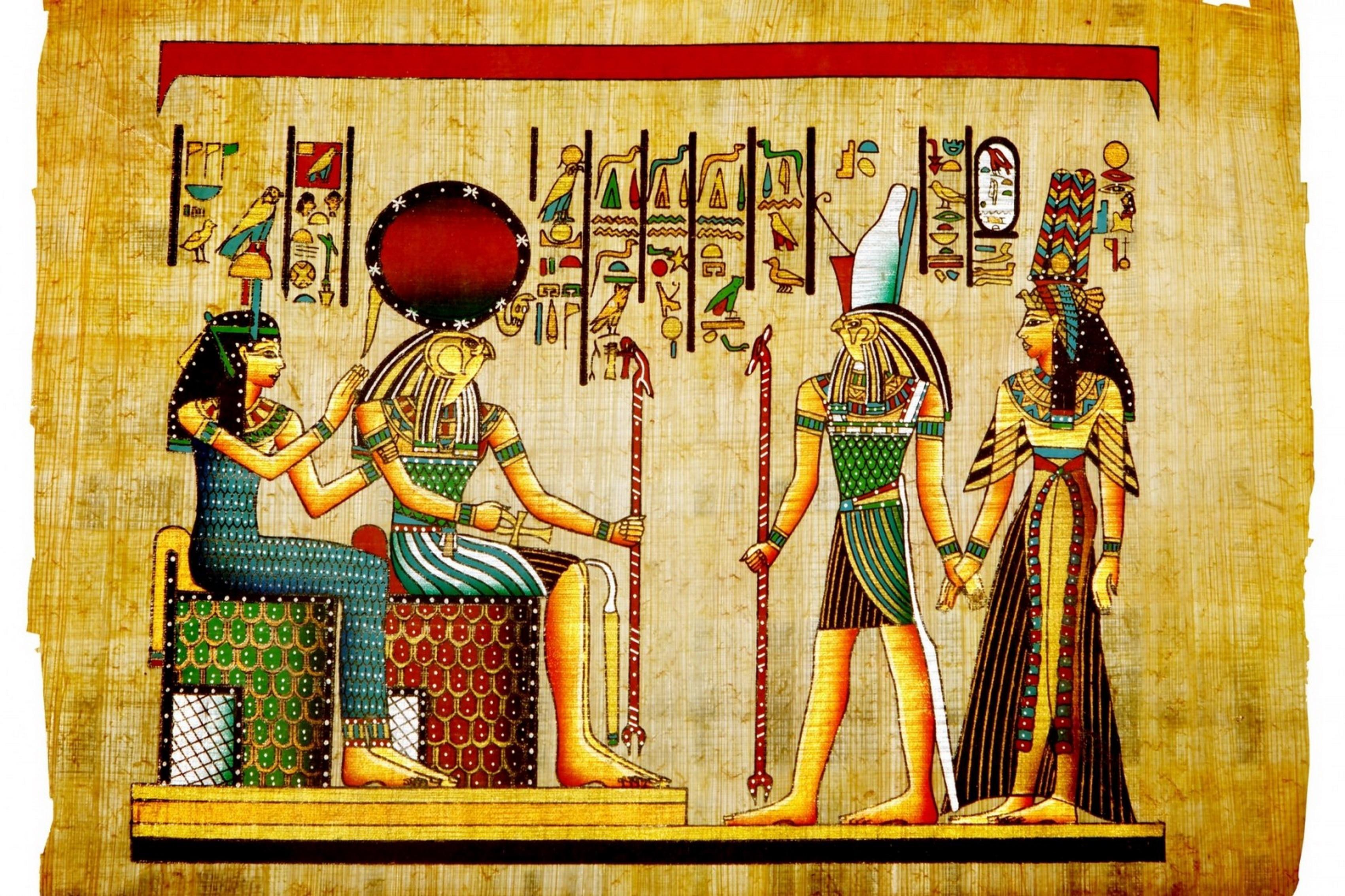 Egypt Papyrus Pharaoh Character Paint Living Room Home Art