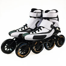 2020 High Ankle Speed Inline Skates Professional Marathon Skates Carbon Fiber White Shoes Kids Adults Racing Skating Patines
