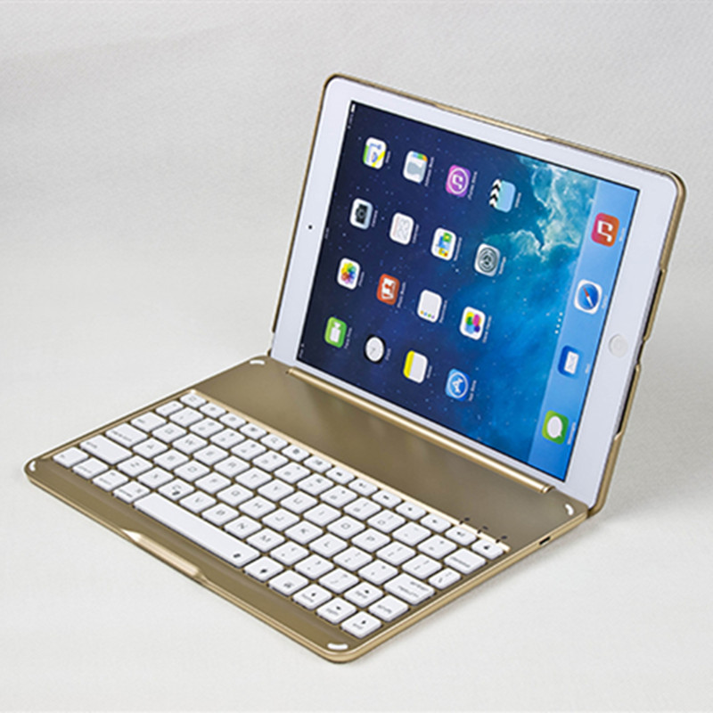 High Quality Case for iPad Air 2 Wireless Bluetooth Keyboard Case Cover for iPad 6 A1566