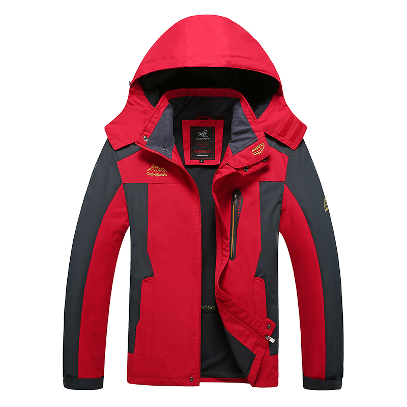 Weight 130kg Can Wear Men Outdoor Windbreaker Warm Softshell Mens Hiking Jackets Waterproof Big Size 7XL 8XL Male Camping Coats afs jeep6xl 7xl 8xl plus size 2017 winter cashmere inner cotton coats chamarras de invierno de caballero jaqueta masculino male