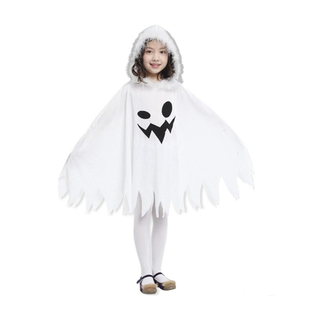 2017 children kids halloween cloak cape funny white fairy ghosts pattern long cloak with hat cosplay costume birthday party gift - Childrens Halloween Costume Patterns