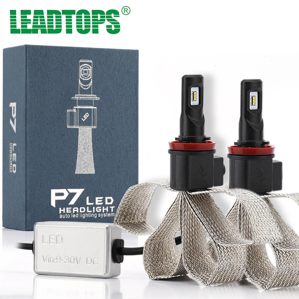 LEADTOPS Car Styling Cars Headlights H4 LED H1 H7 H8 H9 H11 LED 9005 9006 880 881 LED 9600LM 6000K Headlamps Fog Bulb ED