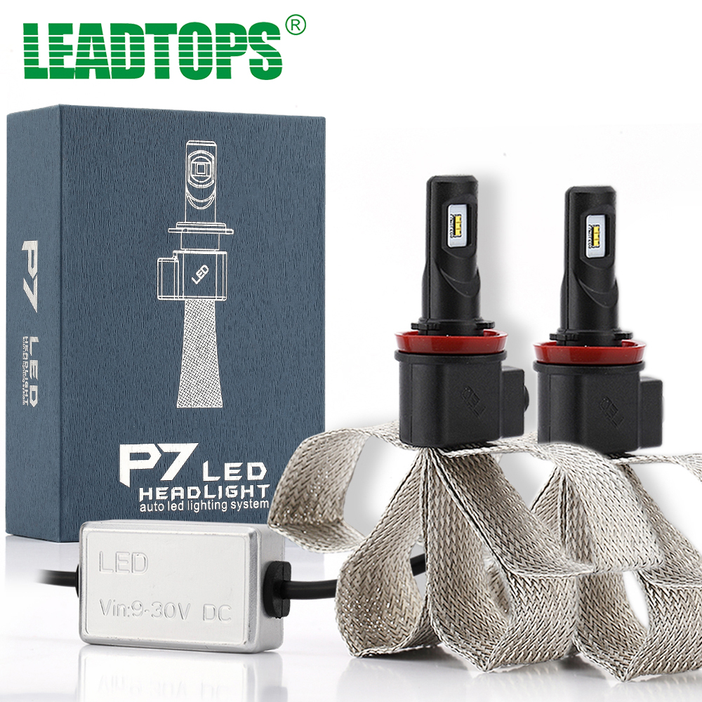 LEADTOPS H4 LED H1 H7 Car Styling Car Headlights H8 H9 H11 LED 9005 9006 880 881 LED 9600LM 6000K Headlamps Fog Bulb ED 2x h7 car led headlight auto p7 h4 h11 h1 h3 h7 h8 h9 9005 9006 9012 880 881 white csp led headlights bulb fog light 12v 24v 72w