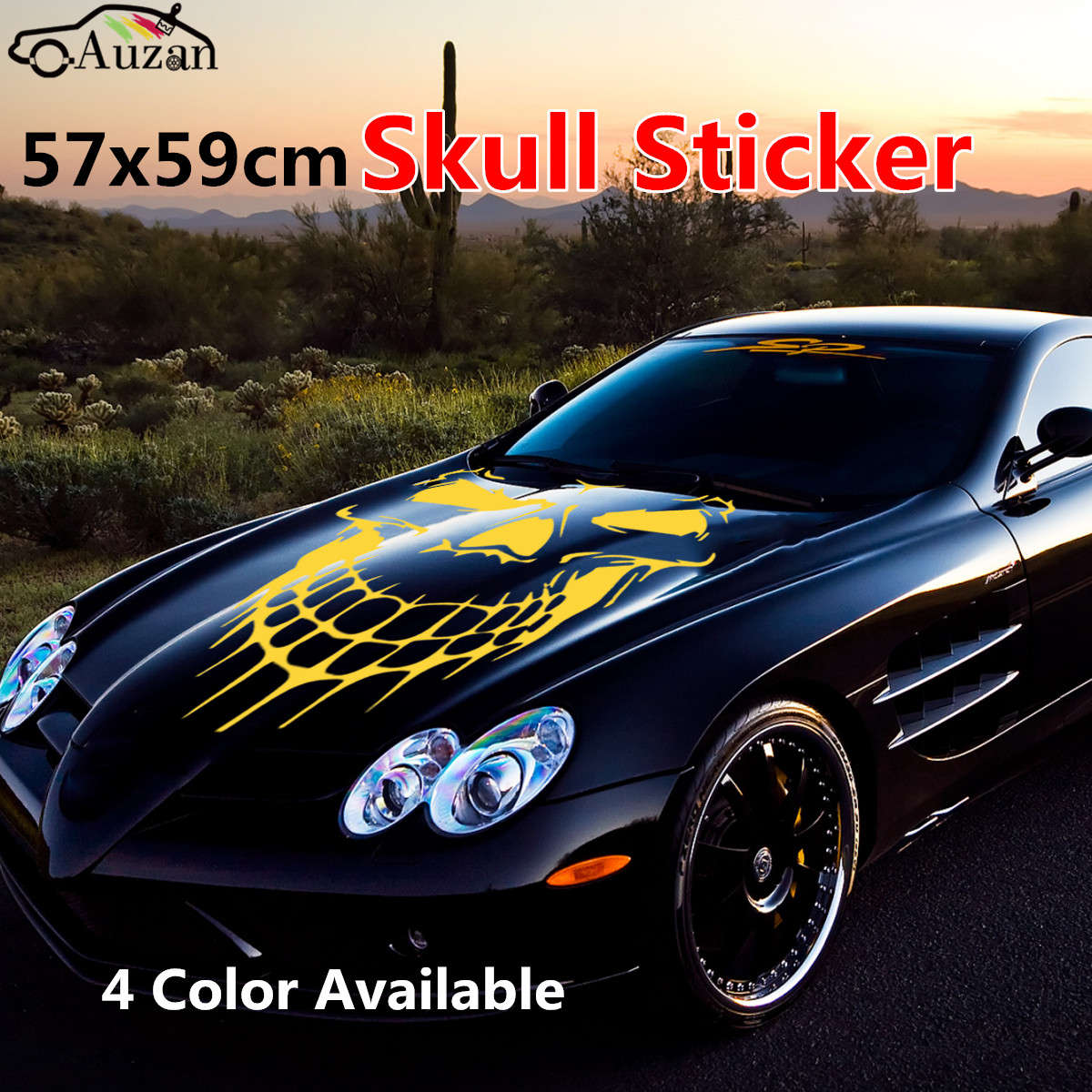 Universal car truck skull hood decal vinyl large graphic sticker 57x59cm in car stickers from automobiles motorcycles on aliexpress com alibaba group