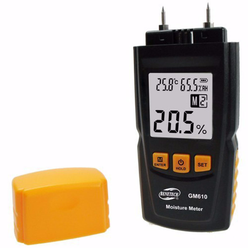 GM610 Digital LCD Display Wood Moisture Meter Gauge Humidity Tester Timber Damp Detector Hygrometer YB440-SZ saipwell lcd display digital wood moisture meter temperature humidity meter tester gm610