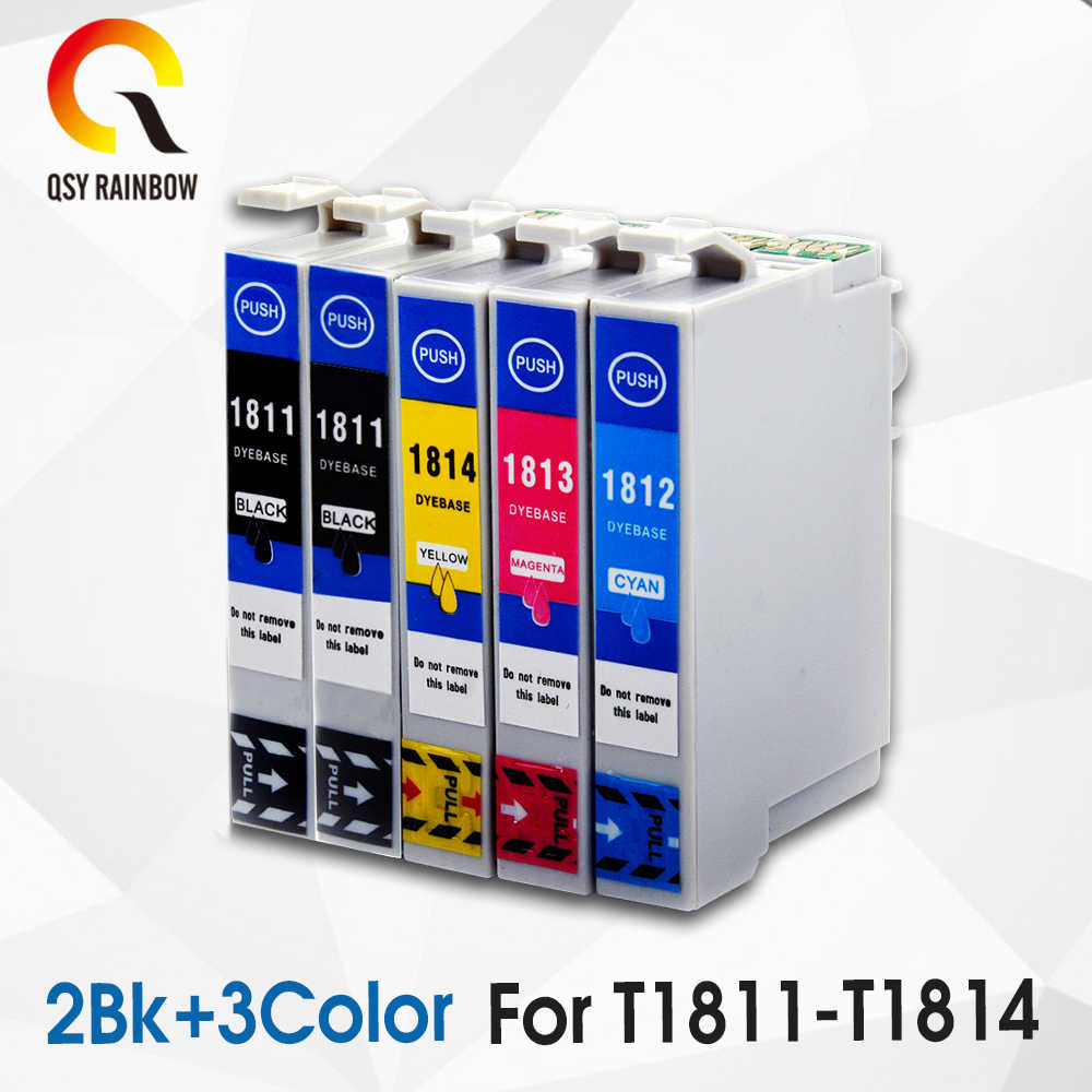 5 Kompatibel untuk Epson 18XL T1811 Ink Cartridge XP315 XP212 XP205 XP305 XP322 XP415 XP302