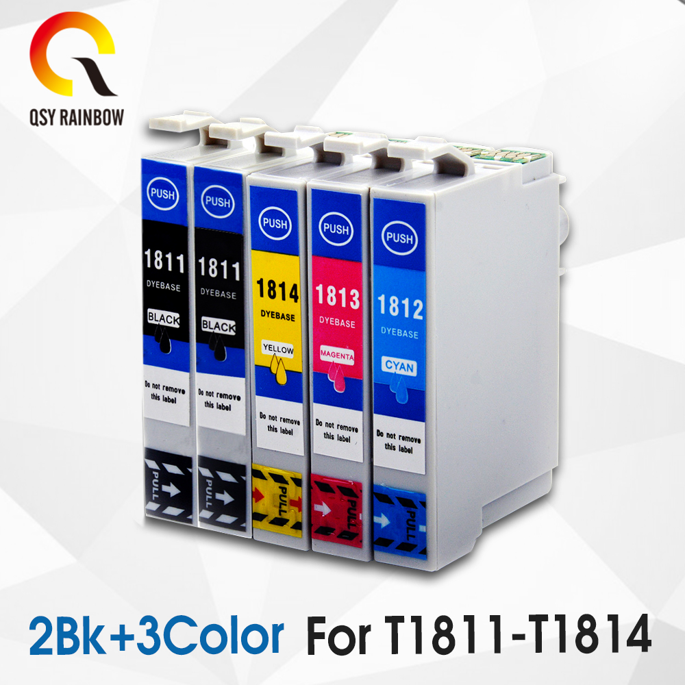 5 Compatible for Epson 18XL T1811 Ink Cartridge XP315