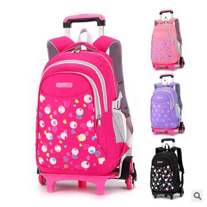 wheeled backpack Trolley School backpacks  kid School Rolling backpack for girls Children luggage bag kids School Bags On wheels