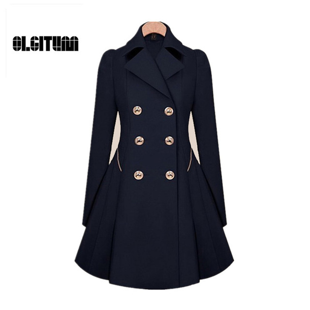 Trench 2018 Hot Sale Women Coat Classic waist was thin Coat Windbreaker Women Trench Female Long Sleeve Trench Coat S-4XL