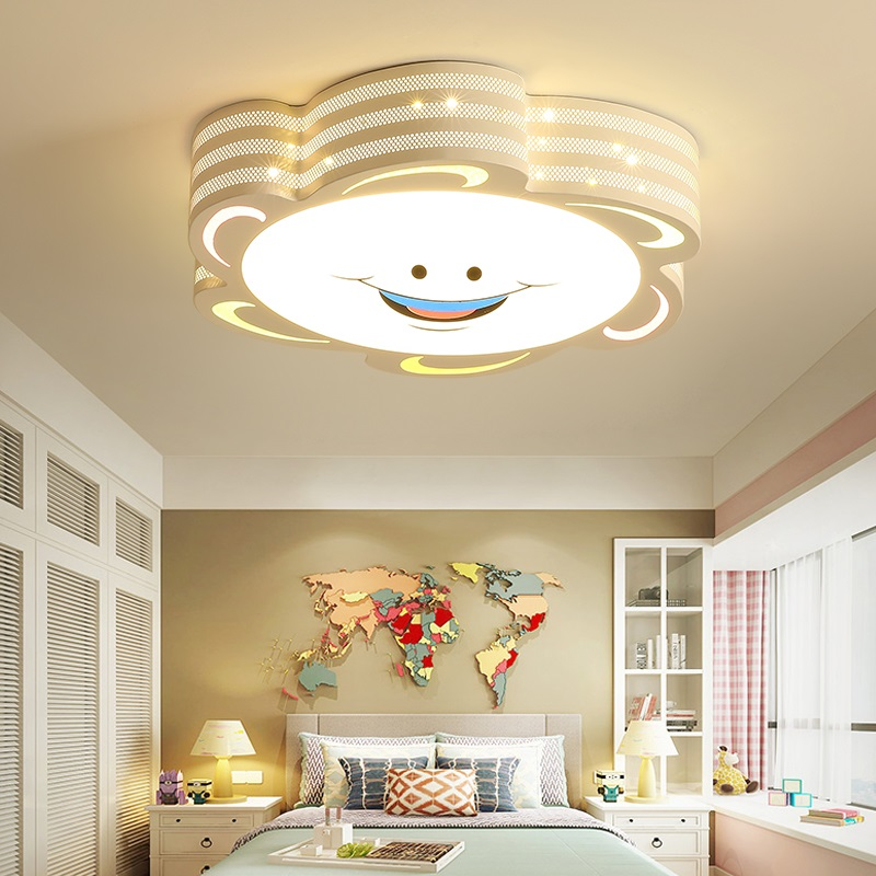 Veayas led ceiling lights Children Kid New Arrival led ceiling lights lamp with Remote control and sun designer цена