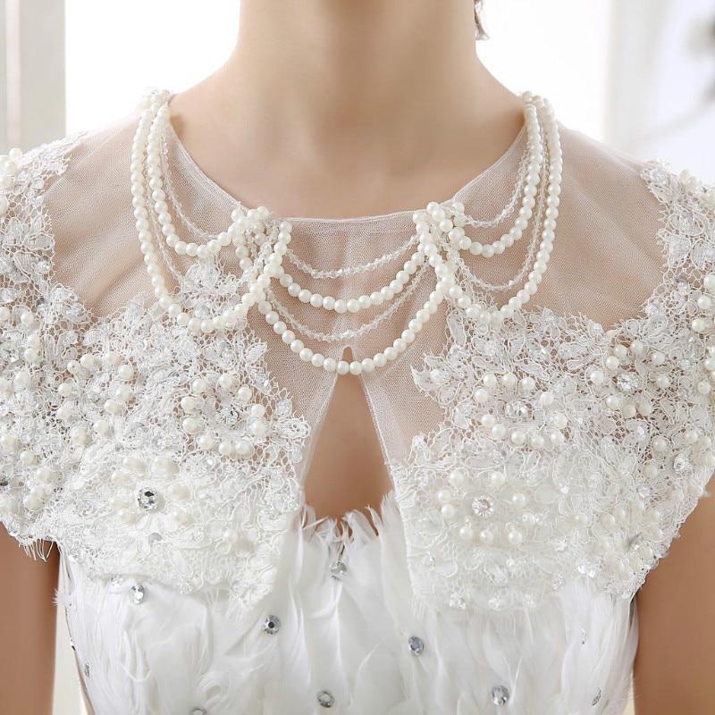 2017 Luxurious White Wedding Accessories Bolero Wedding Bolero Wedding Jacket Beads Wome ...