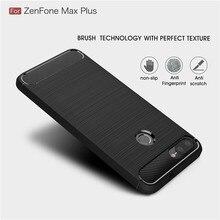 For Asus Zenfone Max Plus M1 ZB570TL case Carbon Fiber Soft TPU Cover for Pro M2 ZB631KL ZB633KL ZB602KL
