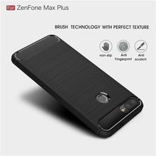 Asus Zenfone Max Artı M1 kılıf Karbon Fiber TPU Yumuşak Kapak Asus kılıfı Zenfone Max Artı M1 ZB570TL X018D coque ZB 570TL