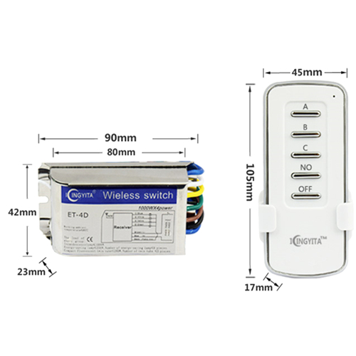 1Pcs RF Wireless Smart Home Intelligent Remote Control Swith Teleswitch 1/2/3/4 Channel Gang