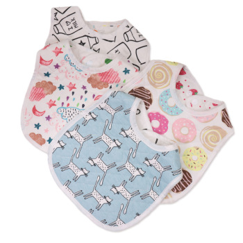 30*22.5cm New Infant Baby Girl Boy Bib Kid Toddler Dinner Food Feeding Bibs Double-deck 100% Cotton Burp Cloths Saliva Towel 1