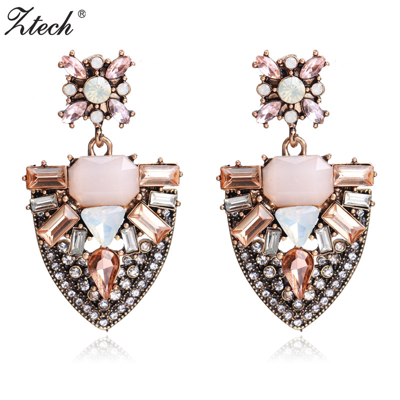 Ztech 2018 New Trendy Earrings Drop Geometric Pendant Earrings for Women Gifts Fashion Statement Jewelry Earrings wholesale