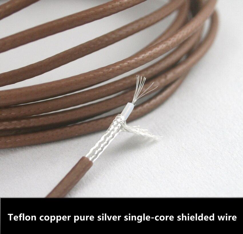 Teflon copper pure silver single core shielded wire 2.5MM diameter ...