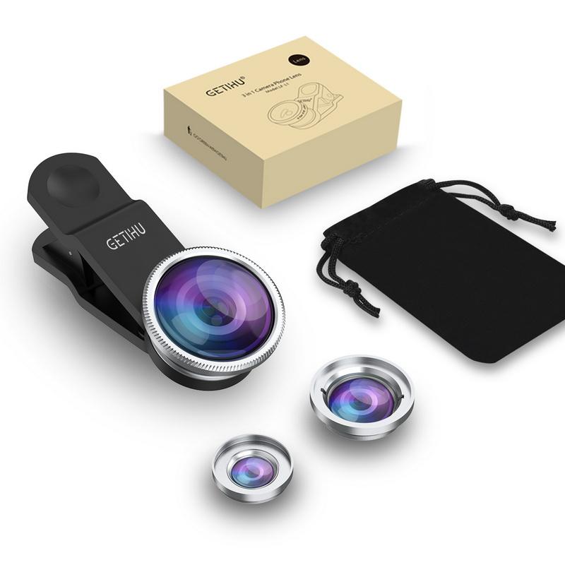 Universal Fisheye Lens 3 in 1 Mobile Phone Clip Lenses Fish Eye Wide Angle Macro Camera Lens for Smartphone iPhone 6 Microscope 6