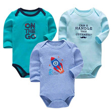 3 pcs/set  Baby tights cotton unisex infant work clothes fashion baby boy girl long sleeve newborn bodysuit