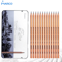 Marco 12Pcs Box 3H 9B Soft Safe non toxic Sketching pencils Professionals Drawing Office School Pencil