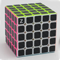 Brand New Zcube 5x5 Speed Magic Cubes Puzzle Game Cube Toy Educational Toys for Children Kids - Carbon Fiber Sticker