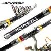JACKFISH 99 Carbon Fiber Telescopic Fishing Rod 1 8 3 6m Short Sea Rods Telescopic Fishing