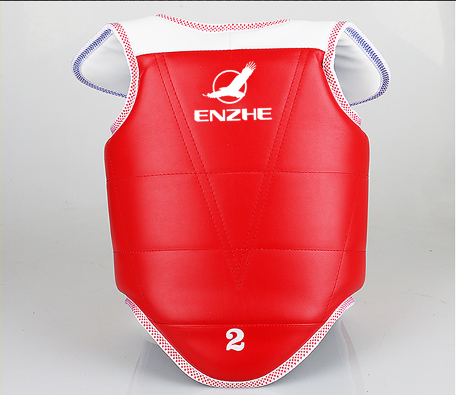 Blue Red color Taekwondo Chest guard Adult kids taekwondo chest protector fighting train ...