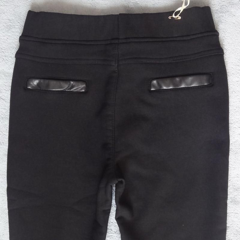 Image 4 - Plus Size 4XL Rivets Stitching PU Leather Leggings Women Plus  Velvet Legging Pencil Pants Motorcycle High Waist Leggings C3930leather  leggingsleather leggings womenpu leather leggings