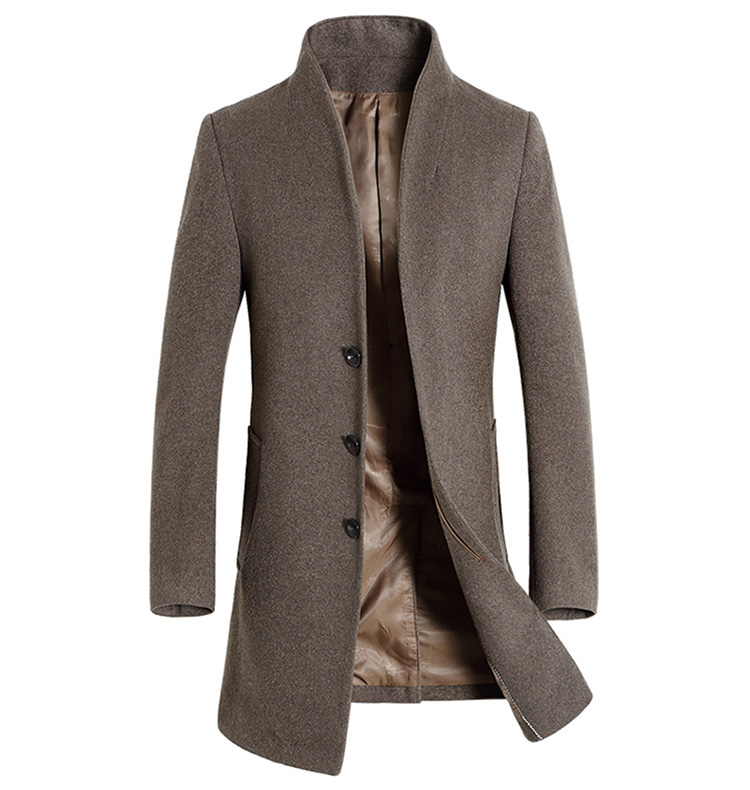 Men Business Casual Woolen Jackets Coats Slim Fit Large Size Jackets Parkas