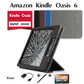 For Amazon Kindle Oasis e-book reader leather case 6 inches dormancy shell support collar for a horse Leather Book Case Cover