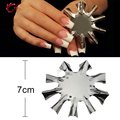 TP Professional 1-9 Sizes V Shaped Cutter French Manicure Nail Art Tool Poly Tips Pink White Trimmer