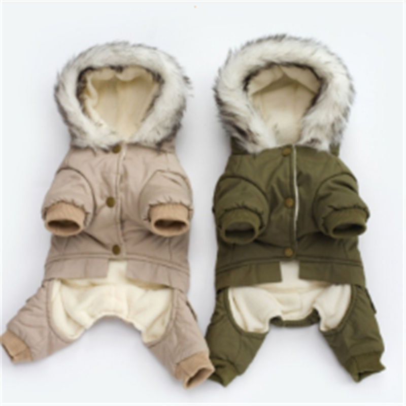 Fashion Dog Clothes Cute Pet Clothing Cotton Warm Costume Autumn Hooded Outfit For Dog Jacket in Dog Coats Jackets from Home Garden