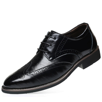 Size 37 48 New Men's Quality Microfiber Leather Shoes Soft Classic Bullock Leather Dress Man Shoes