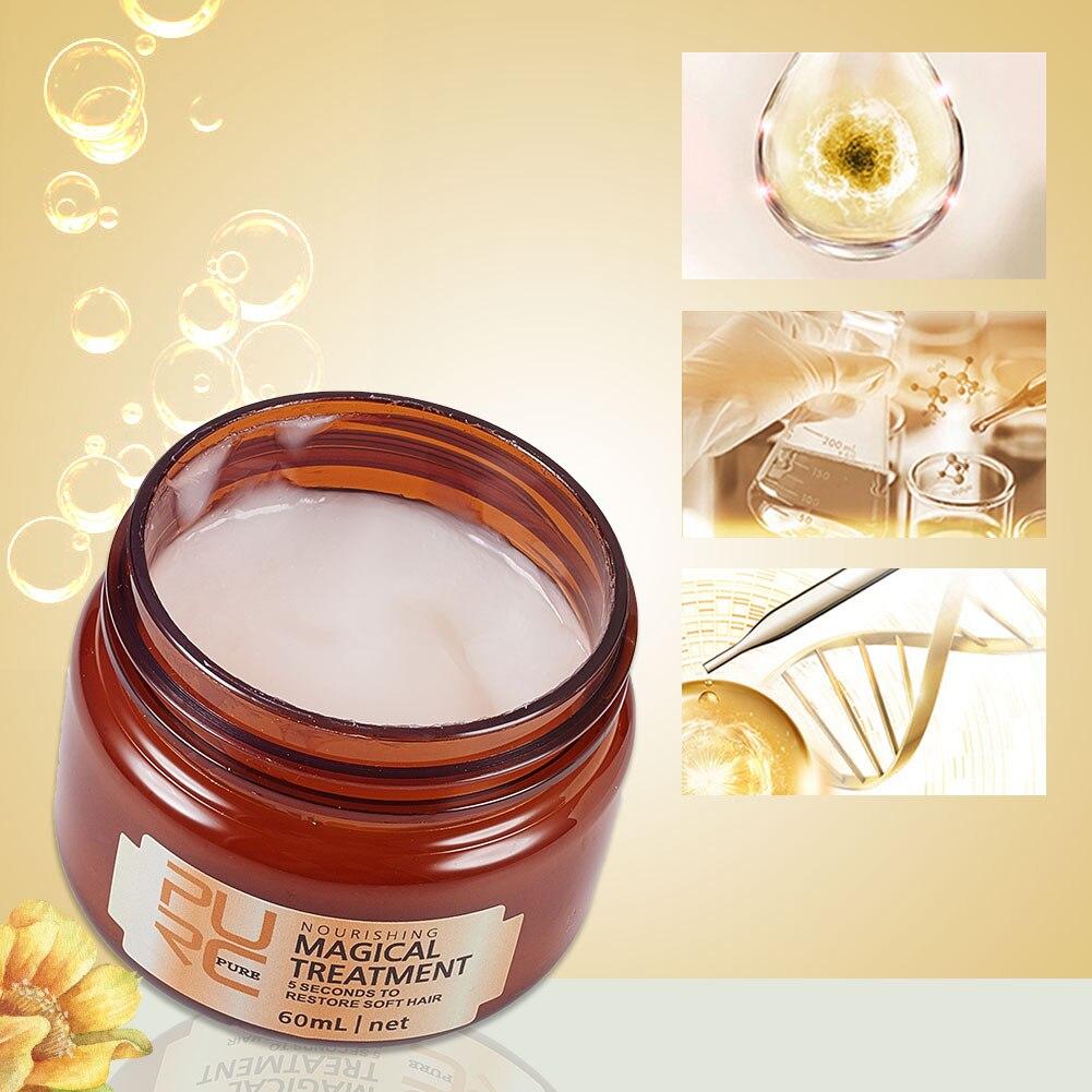 Masque capillaire femme cheveux longs réparation profonde hydratant souple et confortable nourrir l'huile capillaire pour cheveux secs