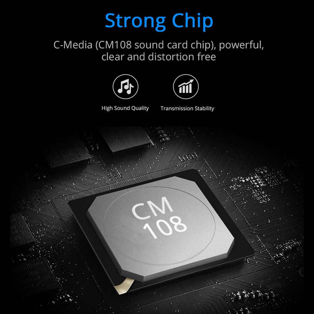 External USB Sound Card 7.1 With 3.5 Mm Audio Antarmuka Adaptor Micphone Kartu Suara Headphone Speaker untuk PC/Laptop