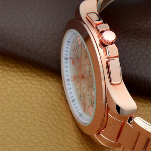 Image 3 - MEGIR הכרונוגרף נשים שעון יוקרה למעלה מותג תאריך שעונים פלדת רצועת קוורץ תאריך גבירותיי שעון מאהב מתנה נשי שעון תיבה 5006