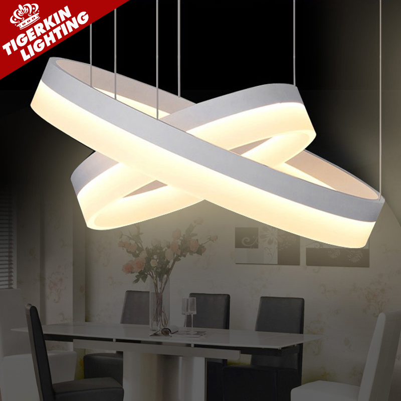 modern living dining room pendant light suspension luminaire suspendu led ring lighting lamp. Black Bedroom Furniture Sets. Home Design Ideas