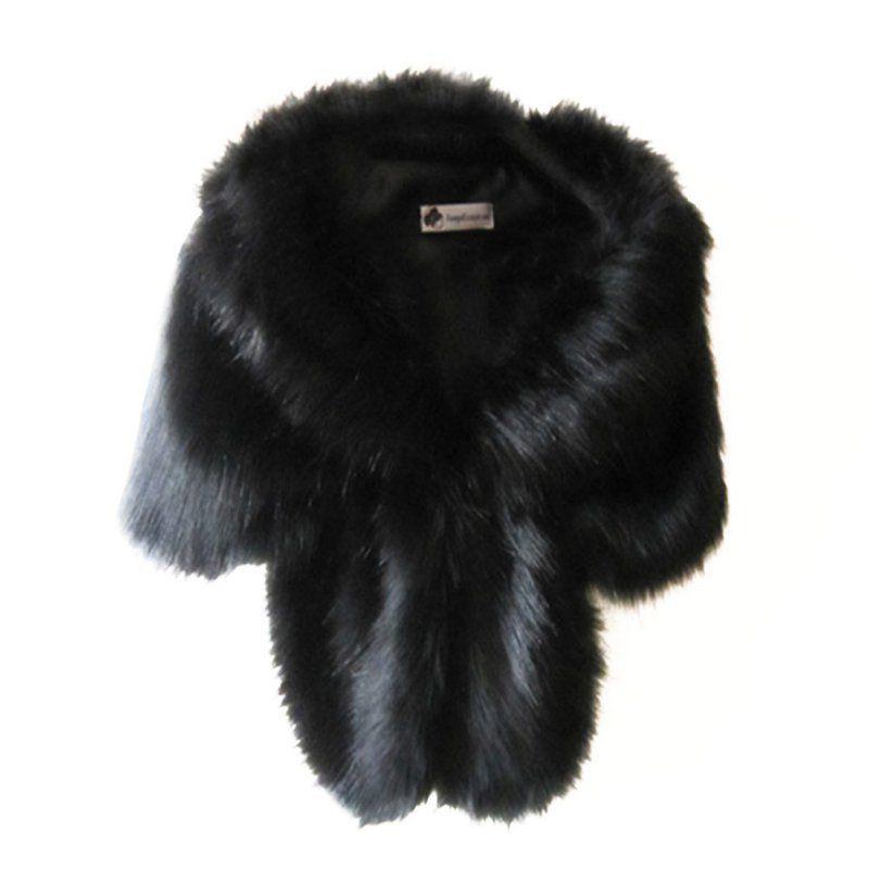 gris negro Abrigo Para Sintética caqui Chal claro Dama blanco Piel Invierno  Chaqueta rojo Boda Cálida ... da560b1bf352
