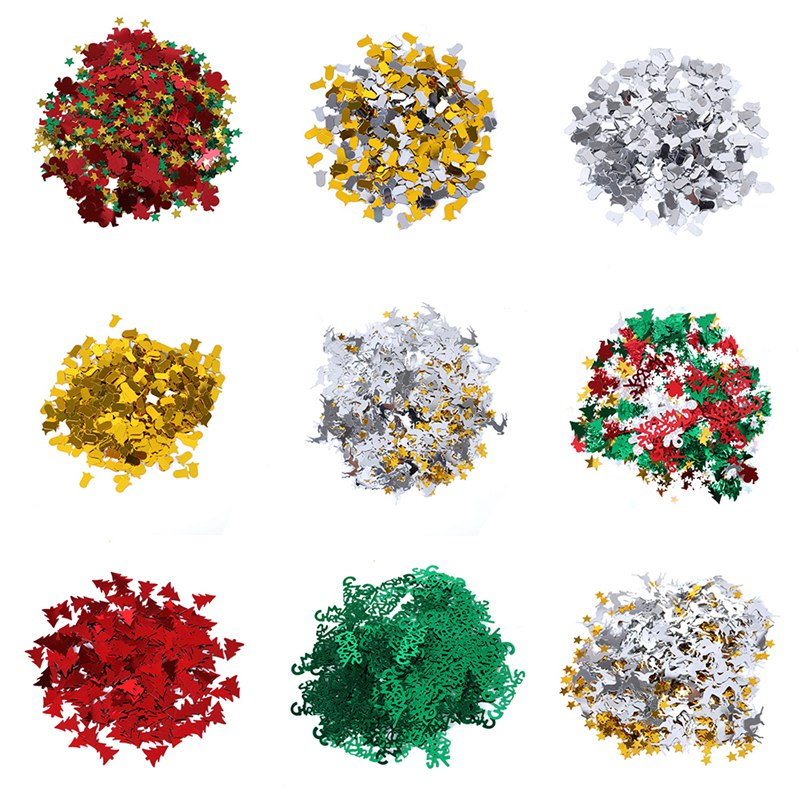 Merry Christmas Snowflake Ball Table Confetti Sprinkles Decorations 15g