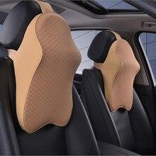 Автомобильная подушка для сиденья, подголовник, подушка для шеи, универсальная, подходит для внедорожников, седанов, переднее/заднее сиденье, автозапчасти, космическая память, foamWh