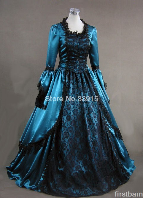 Ladies 18th Century Marie Antoinette Masked Ball Gown Victorian Dress Halloween Lace Long Party Carnival Dress